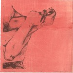 Waiting to Exhale, 2012. Three plate polyester lithograph with monoprint on Rives BFK, 12 x 12 inches. 9/10, varied edition.