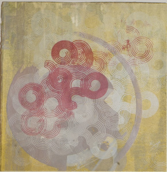 Untitled, 2006. Monoprint and Silkscreen, 12 x 12 inches.